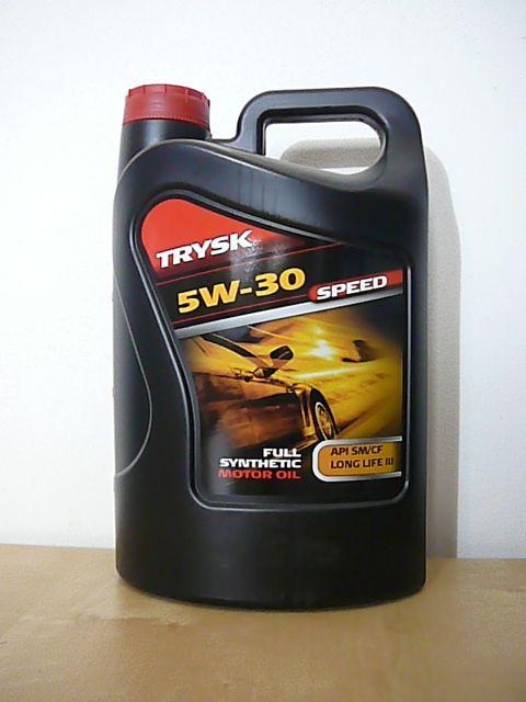 TRYSK SPEED 5W-30 - vysoce výkonný syntetický motorový olej Paramo