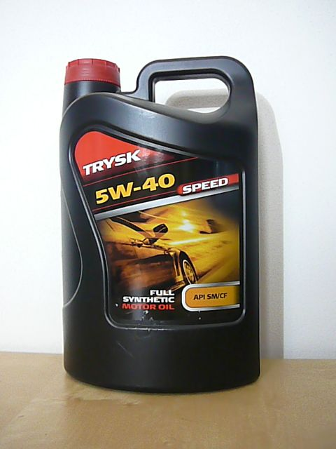 TRYSK SPEED 5W-40 - syntetický motorový olej pro moderní benzínové a naftové motory špičkové výkonnosti Paramo