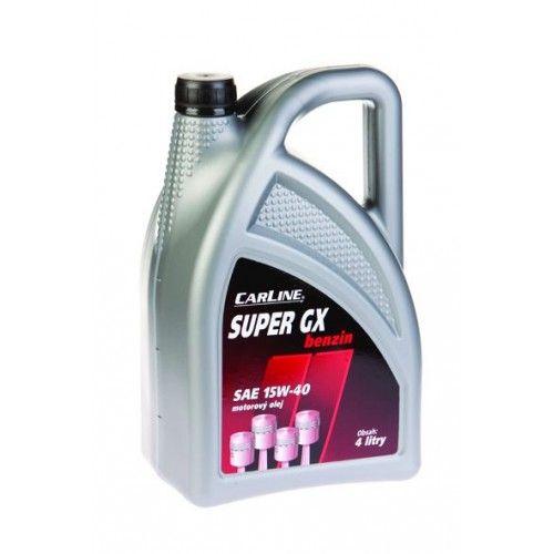 Motorový olej Carline SUPER GX benzin 15W-40 - 4L + 1L