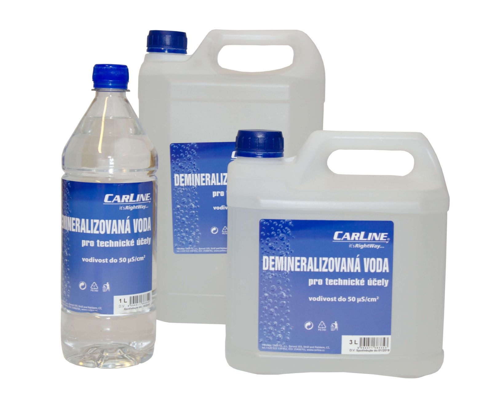 Carline Demineralizovaná voda 5L