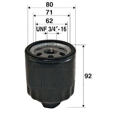 Valeo Olejový filtr šroubovaný